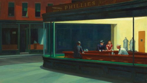 Modern and Abstract Art - Edward-Hopper-Nighthawks