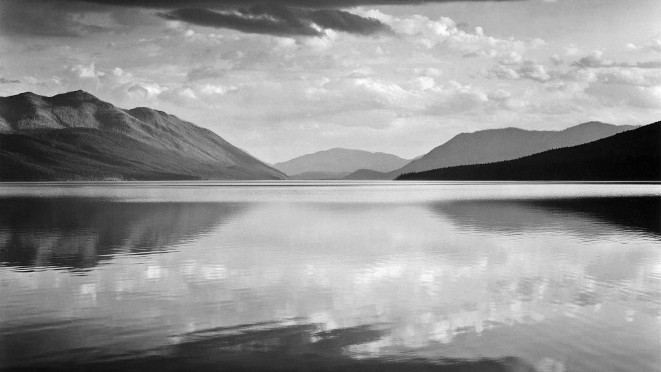 Ansel-Adams-Evening-McDonald-Lake-Glacier-National-Park-Montana