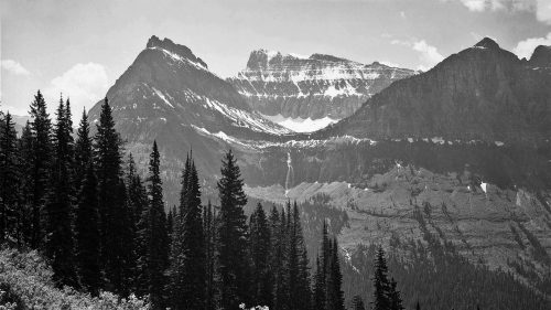Ansel Adams - In-Glacier-National-Park-Montana
