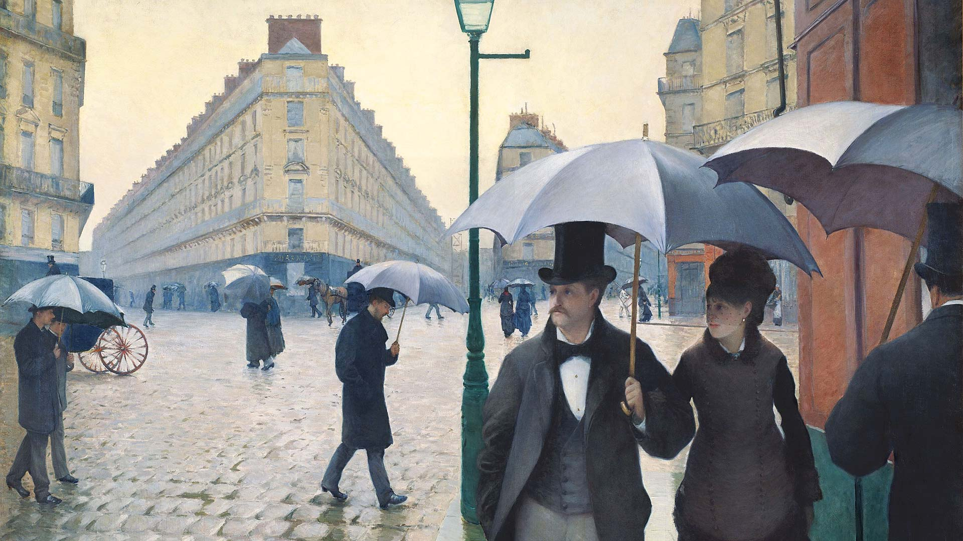 Digital TV Art - Impressionist Masters - Caillebotte-Paris-a-Rainy-Day
