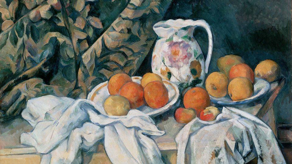Cezanne-Still-Life-with-a-Curtain