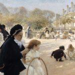 Digital TV Art - Impressionist Masters - Edelfelt-The-Luxembourg-Gardens-Paris