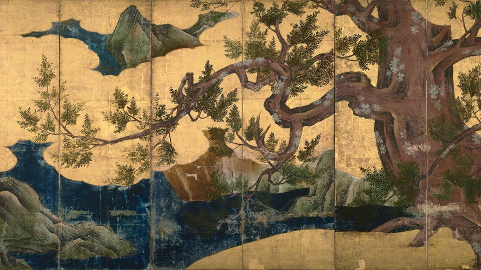 Kano-Eitoku—Cypress-Trees