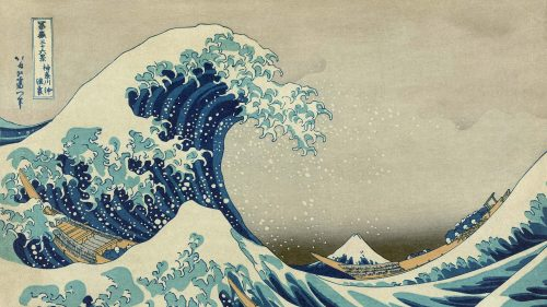 Digital TV Art - Asian Art - Katsushika-Hokusai - Great-Wave-off-Kanagawa