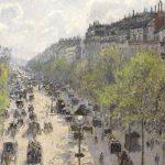 Digital TV Art - Impressionist Masters - Pissarro-Boulevard-Montmartre-Spring