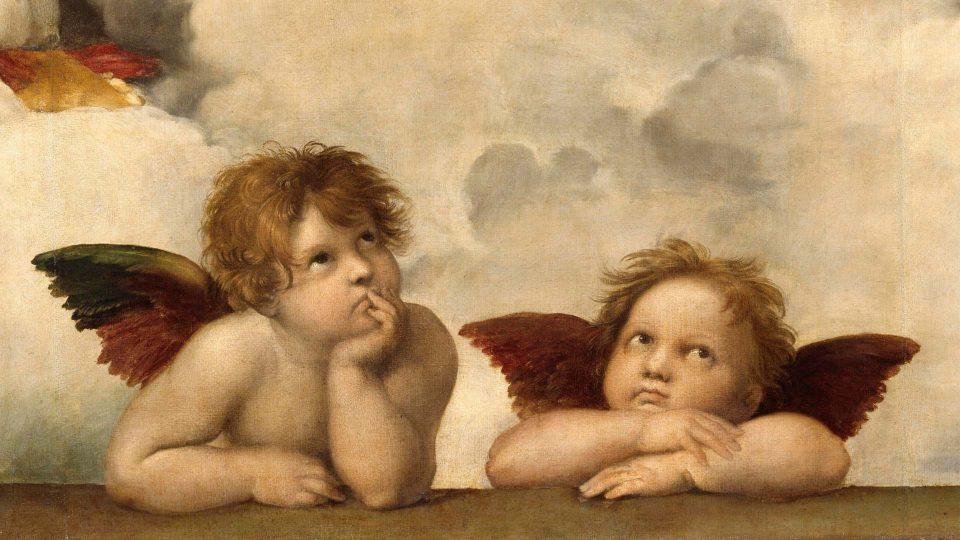 Raphael–Sistine-Madonna-Angels
