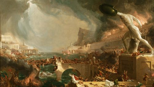 Thomas-Cole - Course of Empire - Destruction