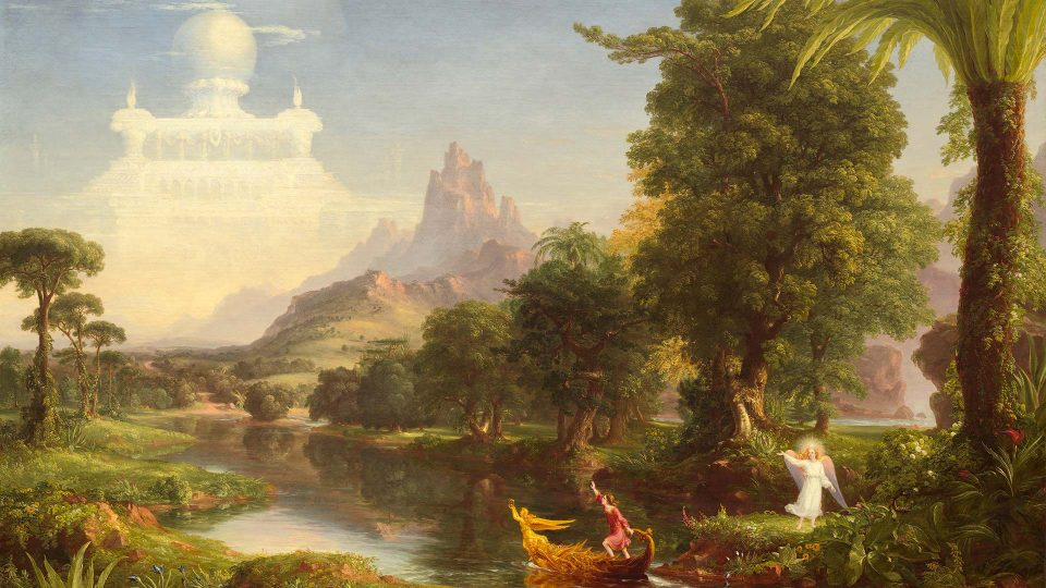 Thomas-Cole-Voyage-of-Life-Youth-1842