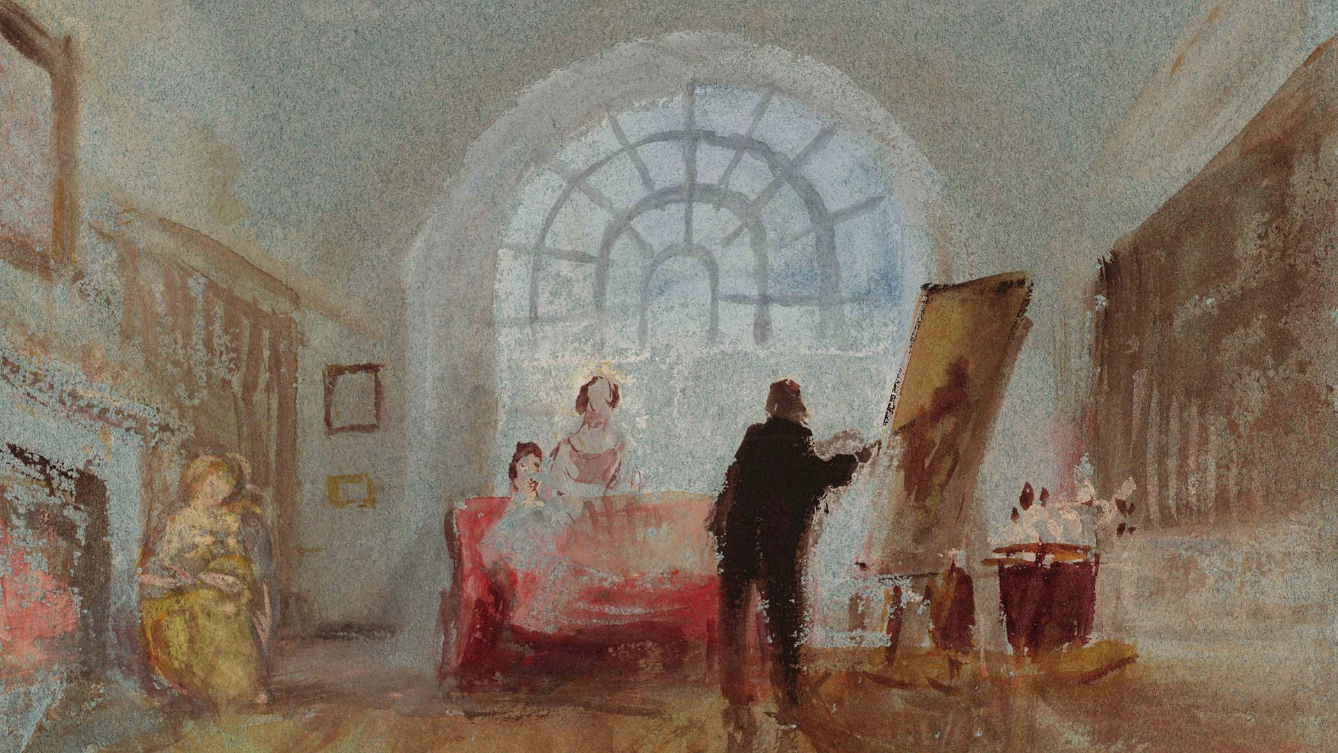 JMW Turner - The-Artist-and-His-Admirers-1827
