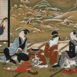 Digital TV Art - Asian Art - Utagawa-Toyoharu - a-Winter-Party