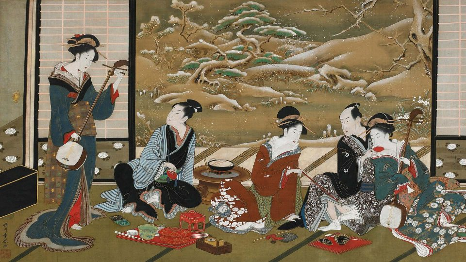Utagawa-Toyoharu—a-Winter-Party