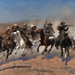 Digital TV Art - The Old West - Frederic-Remington-A-Dash-for-the-Timber