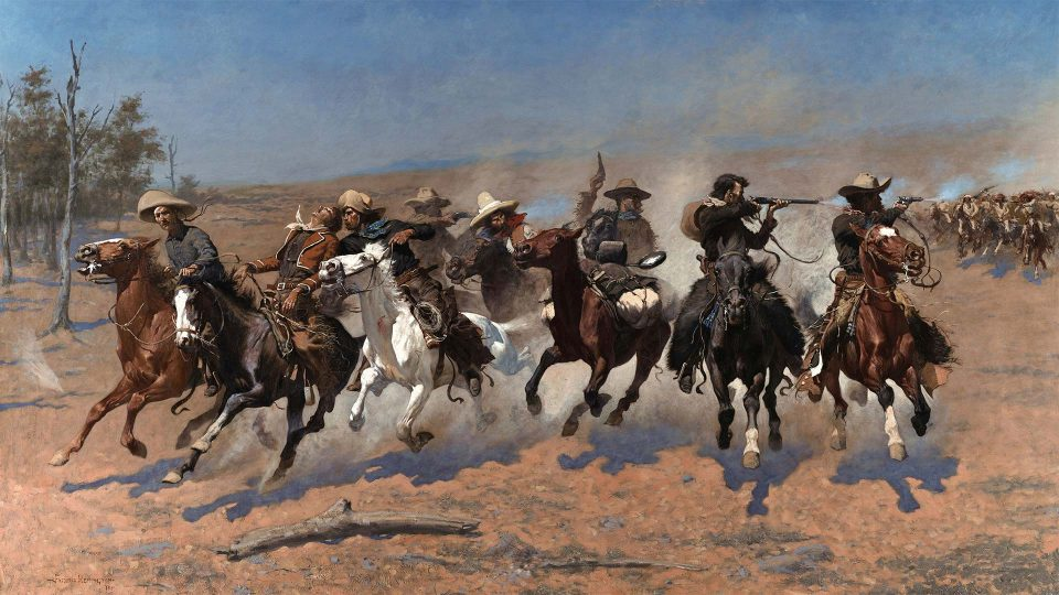 Frederic-Remington-A-Dash-for-the-Timber