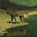 Digital TV Art - The Old West - Frederic-Remington-Moonlight-Wolf