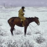 Digital TV Art - The Old West - Frederic-Remington-The-Herd-Boy